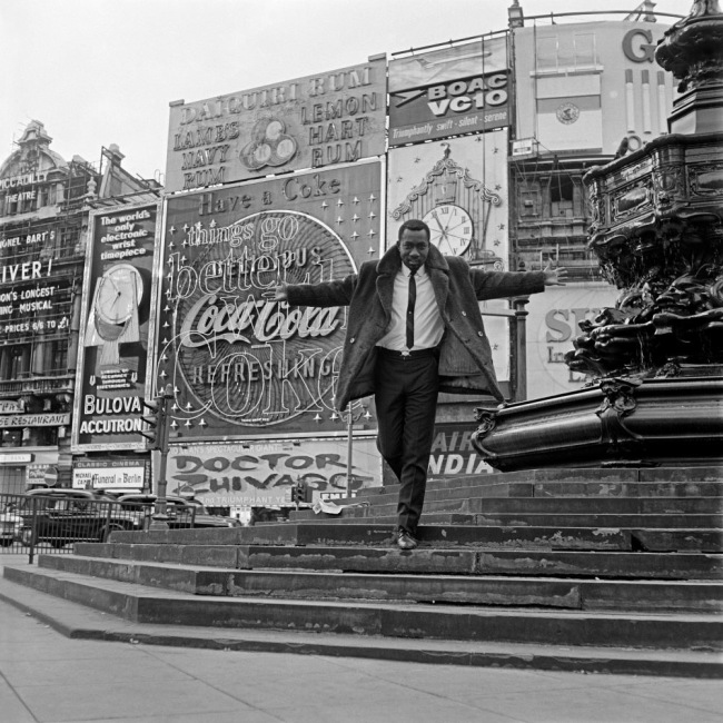 James Barnor (Ghanian, b. 1929) 'Mike Eghan at Piccadilly Circus, London' 1967
