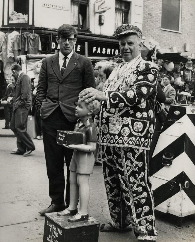James Barnor (Ghanian, b. 1929) 'Pearly King, Petticoat Lane Market, London' 1960s