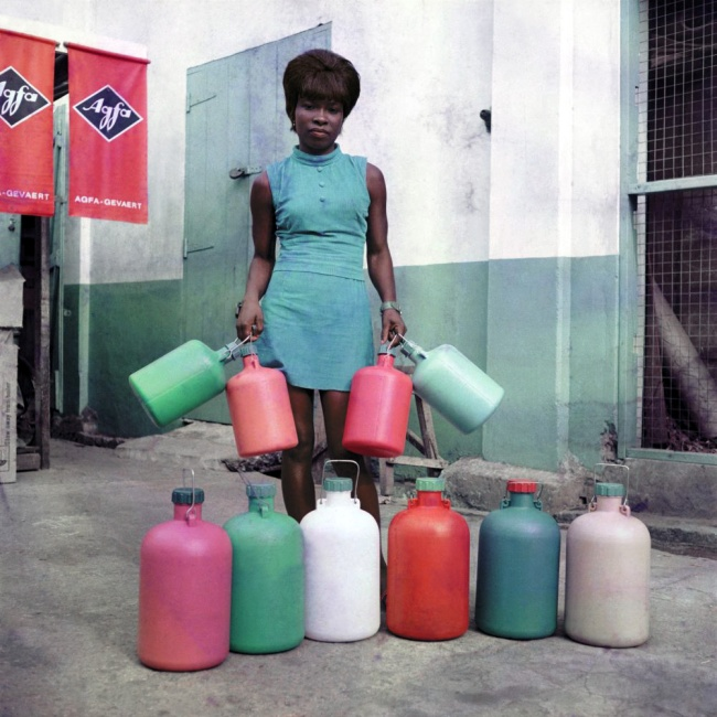 James Barnor (Ghanian, b. 1929) 'A shop assistant at the Sick-Hagemeyer store. Accra' 1971