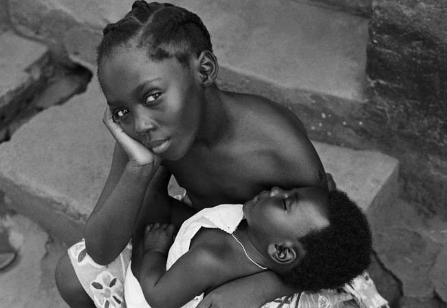 James Barnor (Ghanian, b. 1929) 'Sister holding Brother, Accra' 1979