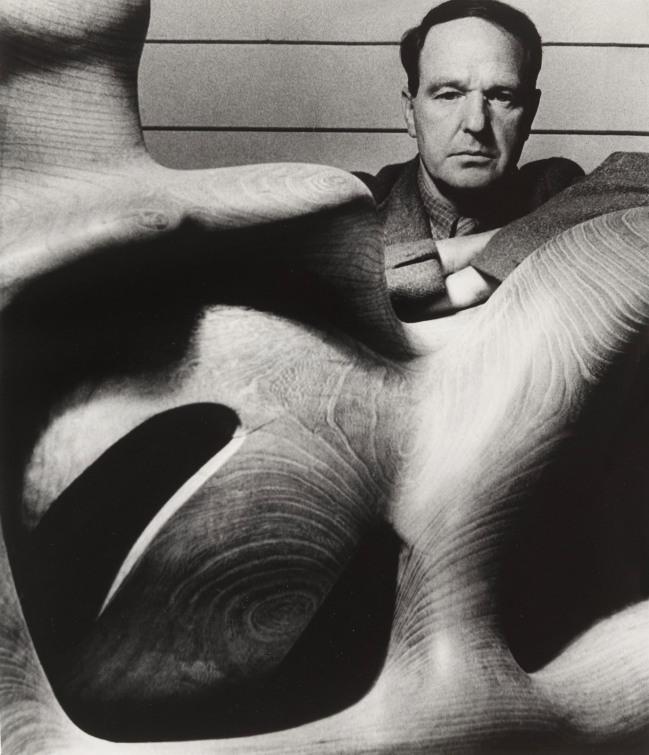 Bill Brandt (British, born Germany 1904-1983) 'Henry Moore in his studio at Much Hadham, Hertfordshire' 1946