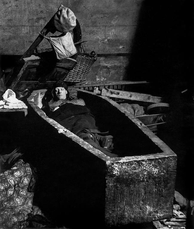 Bill Brandt (British, born Germany 1904-1983) 'Sheltering in a Spitalfields crypt' 1940