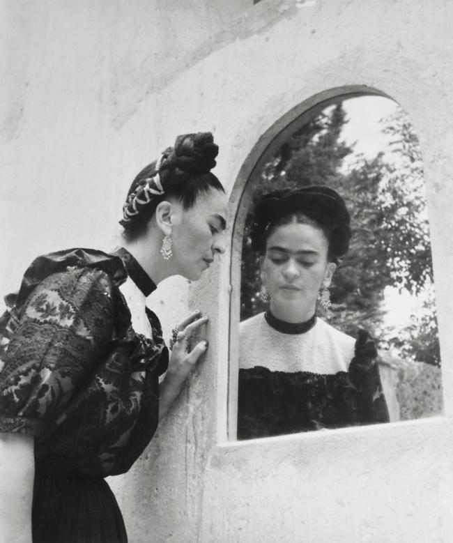 Lola Alvarez Bravo (Mexican, 1903-1993) 'Frida looking into mirror' 1944