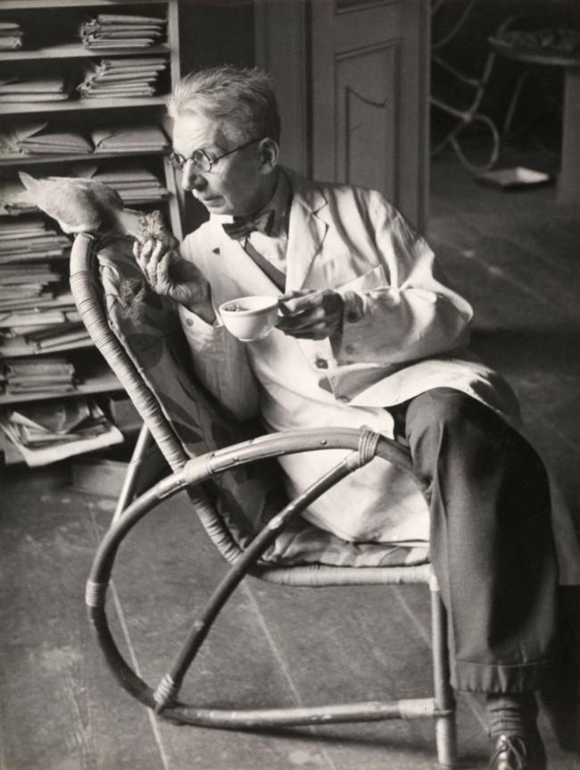 Friedrich Seidenstücker (German, 1882-1966) 'Untitled (Self-portrait with dove)' 1952