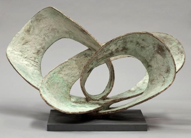 Barbara Hepworth (English, 1903-1975) 'Curved Forms (Pavan)' 1956