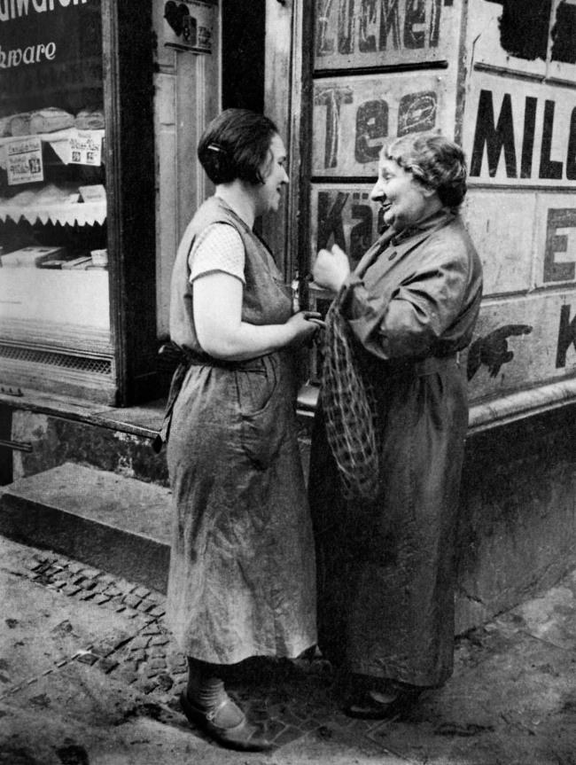 Friedrich Seidenstücker(1882-1966) 'Vor dem Bäckerladen' 1929