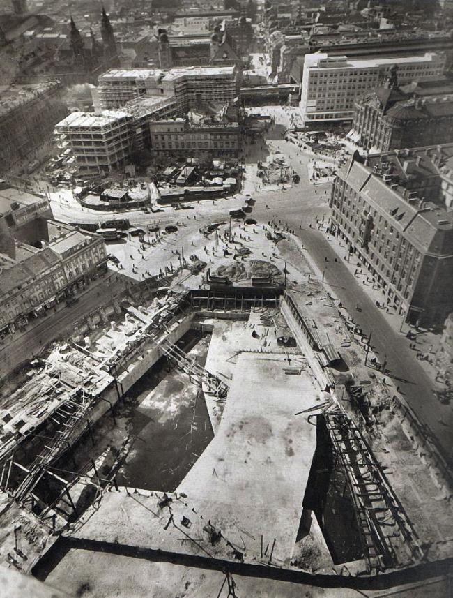 Friedrich Seidenstücker (German, 1882-1966) 'Alexanderplatz, Berlin' 1928
