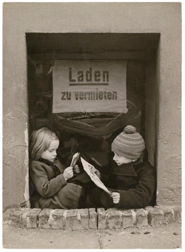 Friedrich Seidenstücker (German, 1882-1966) 'Children in the city' 1928