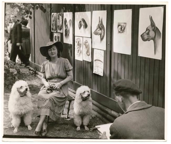 Friedrich Seidenstücker (German, 1882-1966) 'Dog painter' 1928
