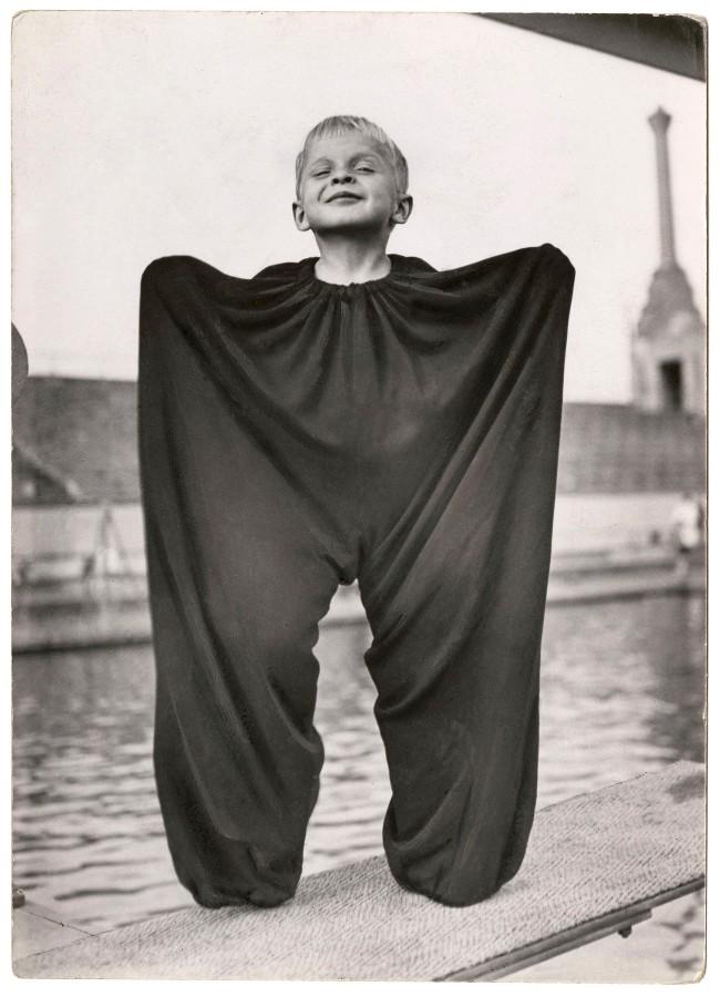 Friedrich Seidenstücker (German, 1882-1966) 'In his father's trousers' c. 1950