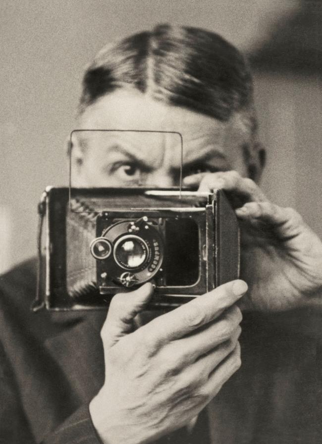 Friedrich Seidenstücker (German, 1882-1966) 'Self-portrait with camera' c. 1925