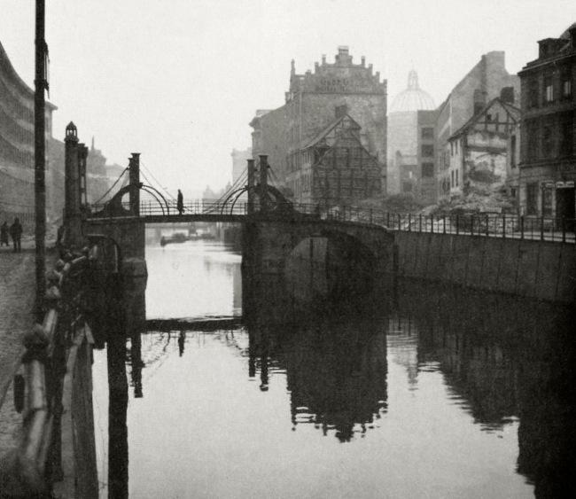 Friedrich Seidenstücker(1882-1966) 'Jungfernbrücke an der Friedrichsgracht' (Maiden Bridge on the Friedrichsgracht) 1946