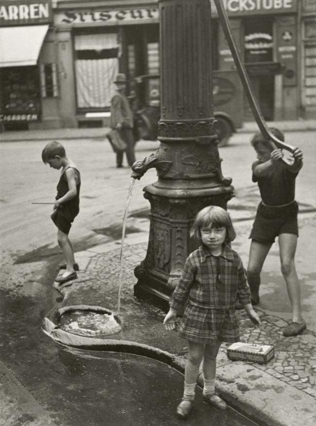 Friedrich Seidenstücker(1882-1966) 'At the Waterpump' 1927