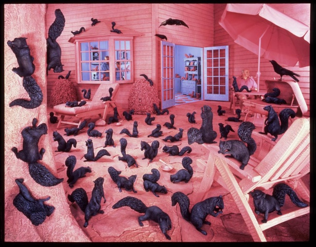 Sandy Skoglund (American, born 1946) 'Gathering Paradise' 1991