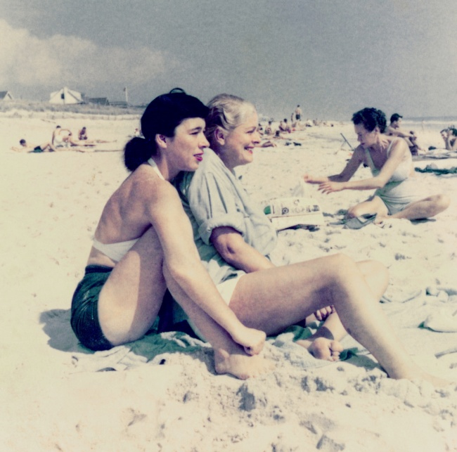 'Patricia Fitzgerald and Kay Guinness, Cherry Grove Beach' September 1952