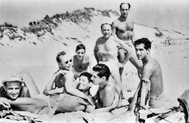 'Men on the Beach' c. 1950