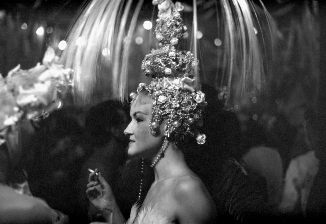 'End of Season APCG Ball, Community House, Woman with Headdress' September 1954