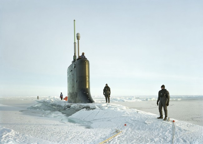 An-My Lê (Vietnamese-American, b. 1960) 'Ship Divers, USS New Hampshire, Arctic Seas' 2011