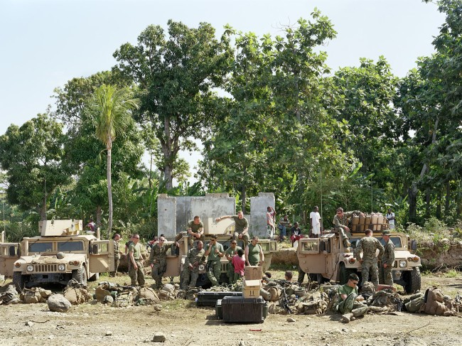 An-My Lê (Vietnamese-American, b. 1960) 'Earthquake Relief, Marine Corps Weapons Company Beach Landing Site, Haiti' 2010