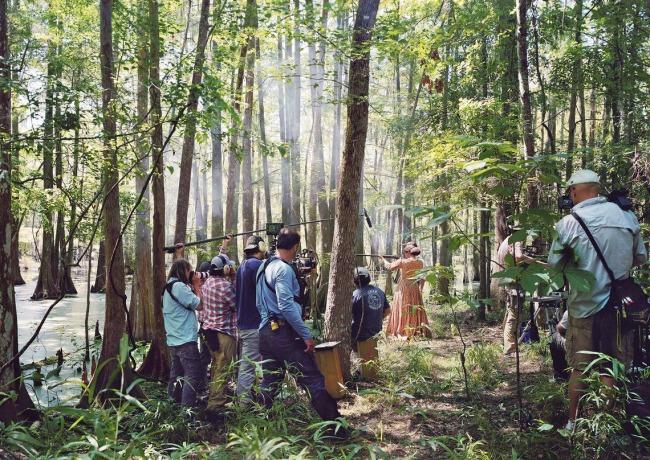 An-My Lê (Vietnamese-American, b. 1960) 'Fragment VII: Film Set (Free State of Jones), Firing Lesson, Chicot State Park, Louisiana' 2016