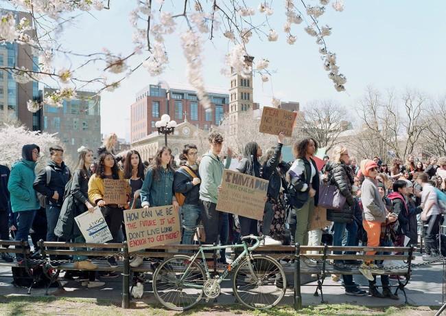 An-My Lê (Vietnamese-American, b. 1960) 'Fragment VII: High School Students Protesting Gun Violence, Washington Square Park, New York' 2018