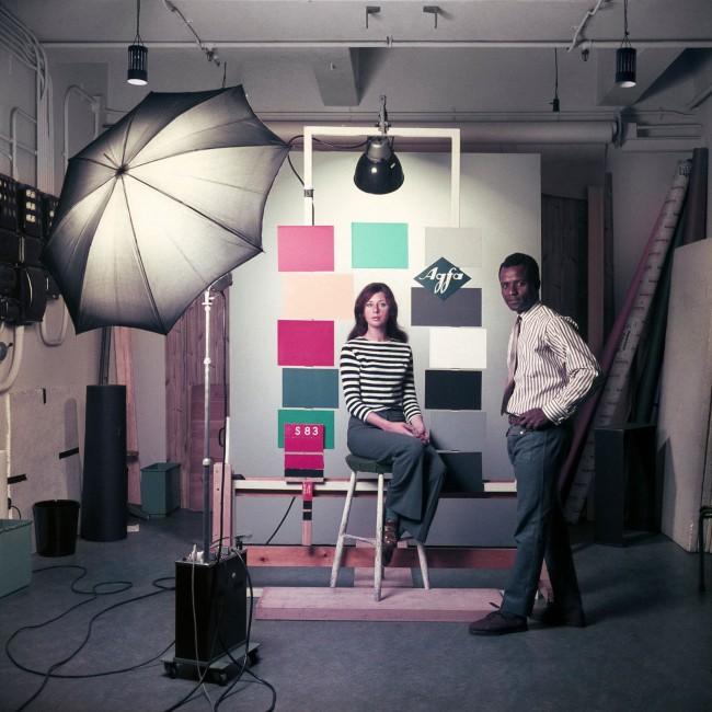 James Barnor (Ghanian, b. 1929) 'James Barnor at the studio Agfa-Gevaert in Mortsel, Belgium' 1969