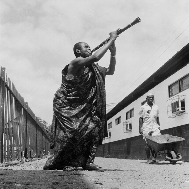 James Barnor (Ghanian, b. 1929) 'E. K. Nyame, the legendary Ghanaian musician, photographed for a record cover, Accra' c. 1975