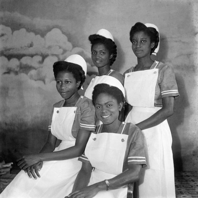 James Barnor (born 1929) 'Four Nurses (graduates of Korle Bu Teaching Hospital), Ever Young Studio, Accra' c. 1957