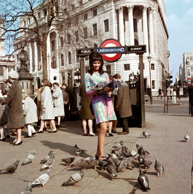 James Barnor (Ghanian, b. 1929) ''Drum' cover model Marie Hallowi at Charing Cross Station, London' 1966