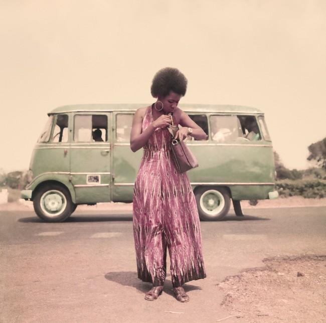 James Barnor (Ghanian, b. 1929) 'Model posing for Agip 1 Calendar, Accra' c. 1974-1975