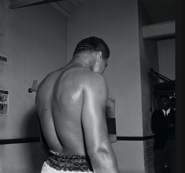 James Barnor (Ghanian, b. 1929) 'Mohammed Ali preparing for his fight against Brian London, London' 1966