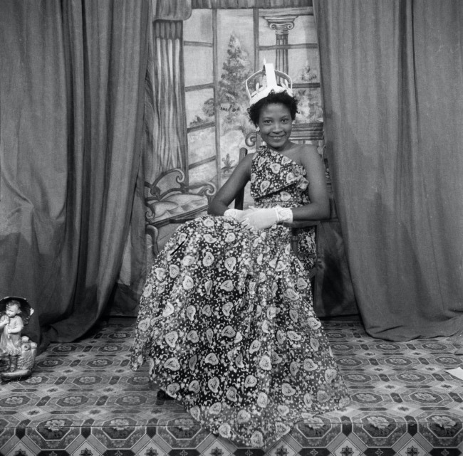 James Barnor (born 1929) 'Naa Jacobson as Ballroom Queen, Ever Queen Studio, Accra' 1955