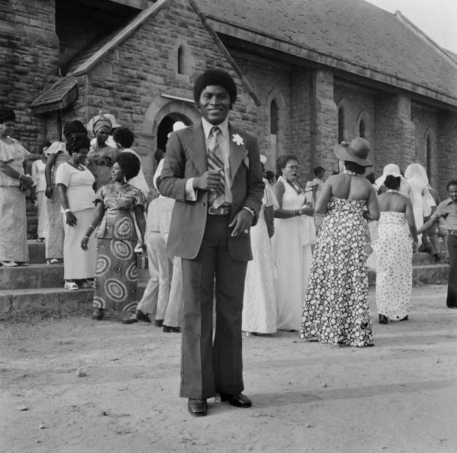 James Barnor (Ghanian, b. 1929) Wedding Portrait, Nii Ayi, Holy Trinity Cathedral, Accra 1970-1980