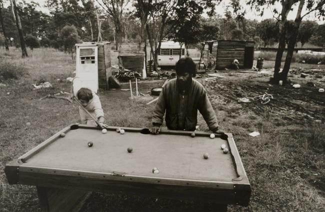 Mervyn Bishop (Australian, b. 1945) 'Pool game, Burnt Bridge' 1988