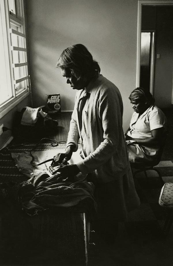 Mervyn Bishop (Australian, b. 1945) 'Woman attend home management course at Yuendumu' 1974, printed 2008