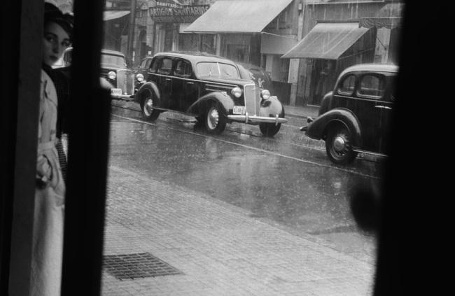 Hildegard Rosenthal (Brazilian born Zürich, 1913-1990) 'Street Scene, São Paulo' c. 1940, printed later