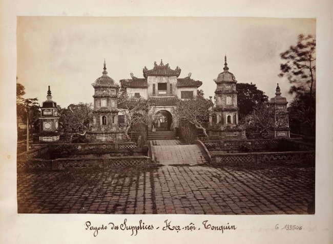 Hippolyte Arnoux (French, (active c. 1860 - c. 1890) and Emile Gsell (French, 1838-1879) 'Pagoda des Supplices, Hanoi' 1880
