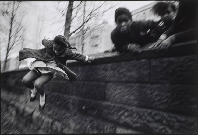 Mary Ellen Mark (American, 1940-2015) 'Girl Jumping over a Wall, Central Park. New York City' Nd