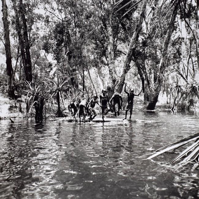 Mervyn Bishop (Australian, b. 1945) 'Children playing in river, Mumeka' 1975