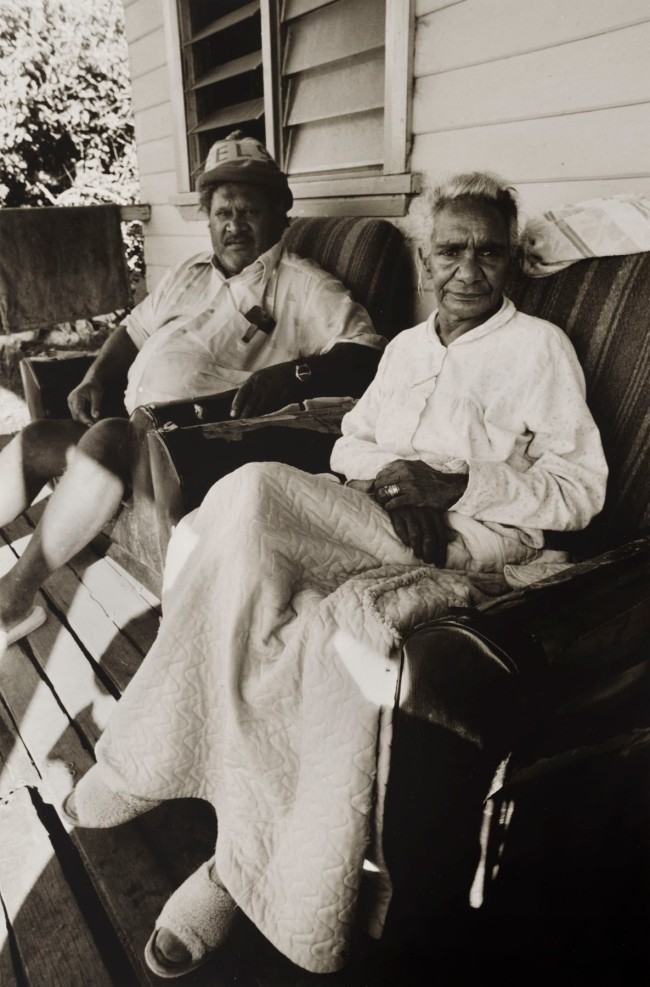 Mervyn Bishop (Australian, b. 1945) 'Couple on veranda, Coffs Harbour' 1988