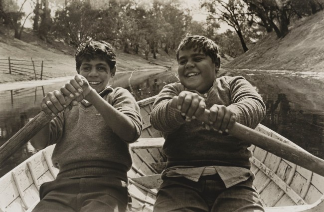 Mervyn Bishop (Australian, b. 1945) 'Cousins, Ralph and Jim, Brewarrina' 1966