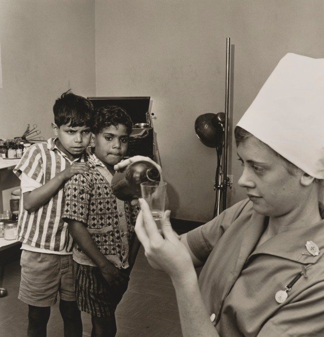 Mervyn Bishop (Australian, b. 1945) 'Far West Children's health clinic, Manly' 1968