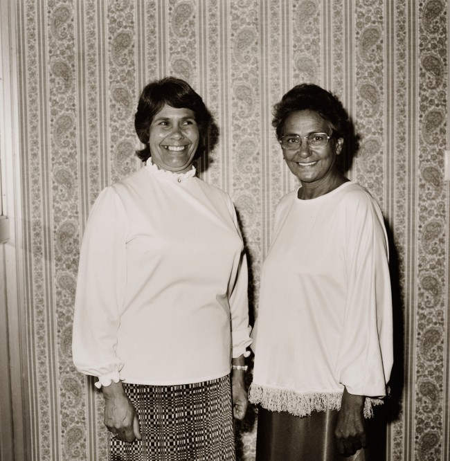 Mervyn Bishop (Australian, b. 1945) 'Lois O'Donoghue CBA, AM, and Oodgeroo Noonuccal' 1974