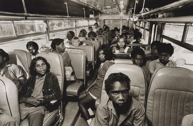 Mervyn Bishop (Australian, b. 1945) 'School bus, Yarrabah' 1974, printed 2008
