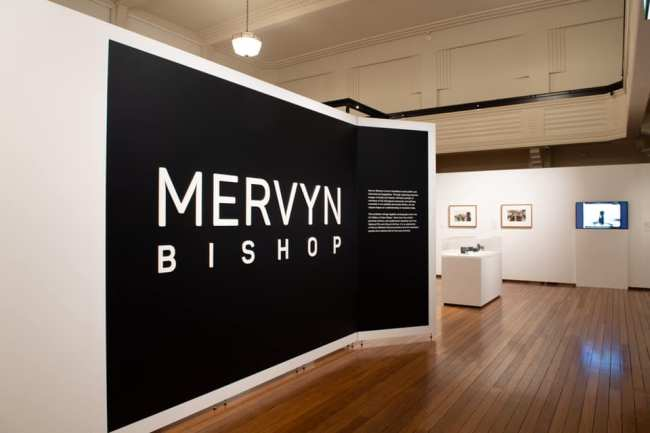 Mervyn Bishop exhibition entrance