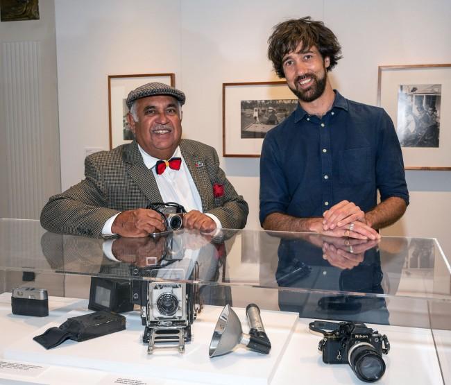Mervyn Bishop with camera