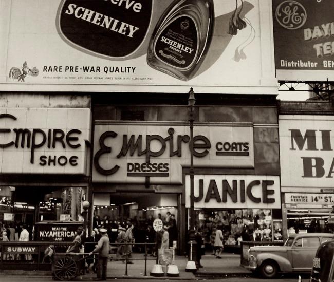 Rebecca Lepkoff (American, 1916–2014) '14th Street, New York City' 1947-48