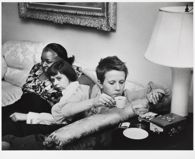 """Ruth Orkin (American, 1921-1985) 'Ethel Waters, Carson McCullers, and Julie Harris at the Opening Night Party for """"The Member of The Wedding,"""" New York City' 1950"""