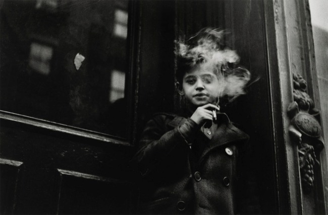 Sandra Weiner (American, 1921-2014) 'Boy Smoking' c. 1948