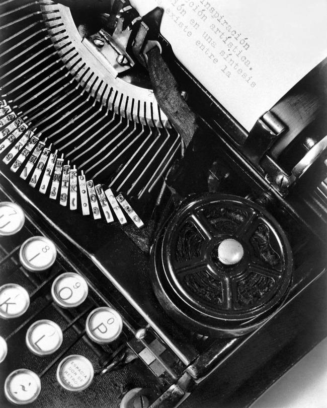 Tina Modotti (Italian, 1896-1942) 'La técnica [or, Mella's Typewriter]' 1928